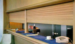 timber roller shutter door